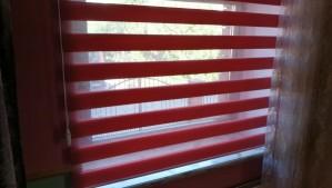 рулонные шторы «День - Ночь» бардовые