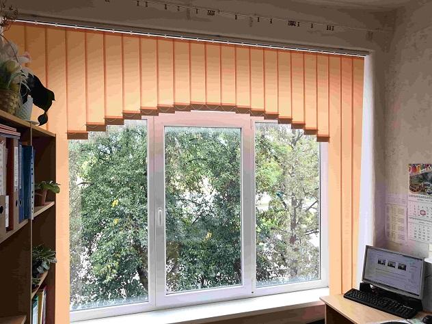 арочные вертикальные в кабинете оранжевые